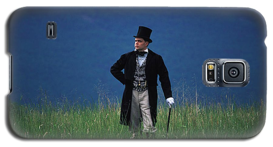 History Galaxy S5 Case featuring the photograph A Man Outstanding In His Field by Carl Purcell