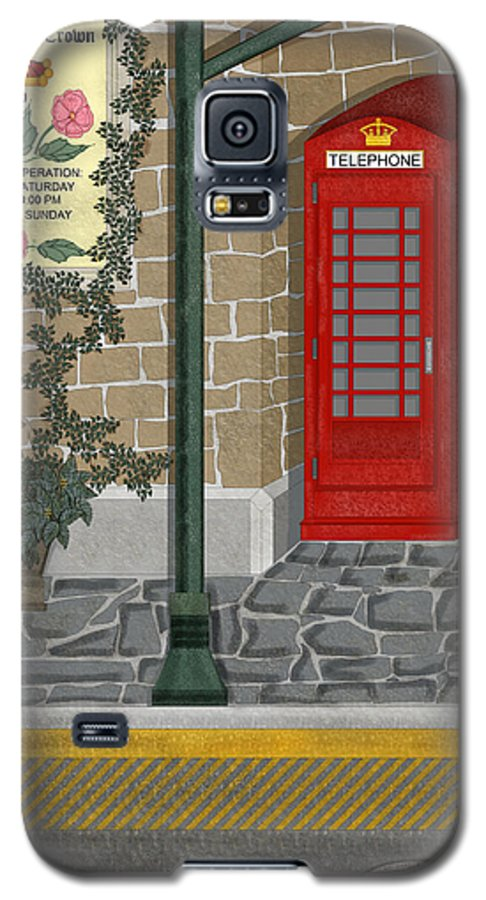 Cityscape Galaxy S5 Case featuring the painting A Merry Old Corner In London by Anne Norskog