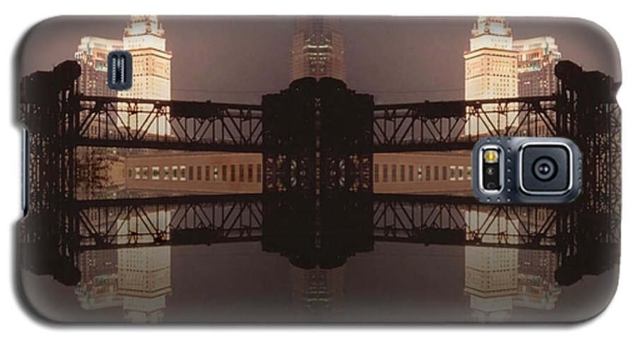 Cleveland Galaxy S5 Case featuring the photograph A Mirror Image Reflection by Kenneth Krolikowski