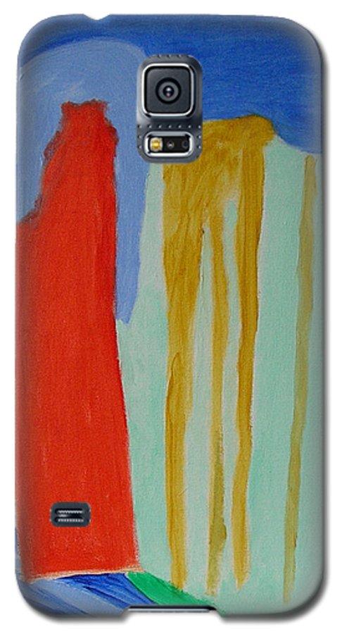 Spiritual Galaxy S5 Case featuring the painting A New Beginning by Harris Gulko