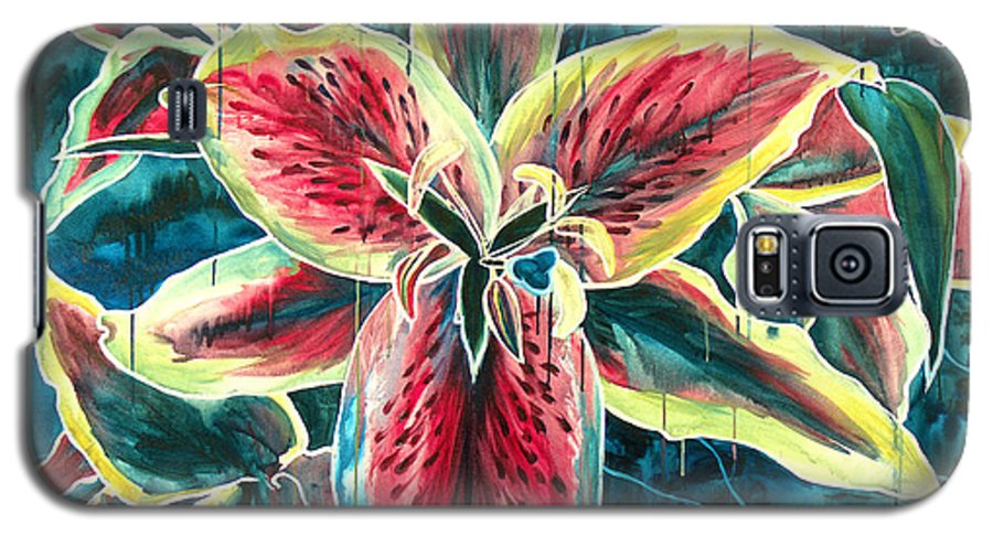 Floral Painting Galaxy S5 Case featuring the painting A New Day by Jennifer McDuffie