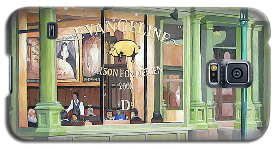 Restaurant Galaxy S5 Case featuring the painting A Night At Evangeline by Dominic White