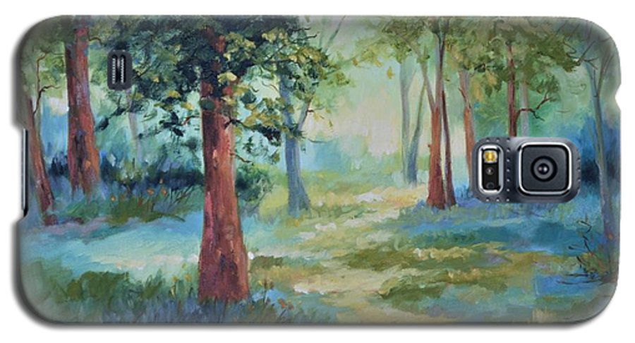 Trees Galaxy S5 Case featuring the painting A Path Not Taken by Ginger Concepcion
