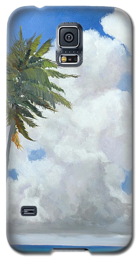 Landscape Galaxy S5 Case featuring the painting A Perfect Day by Glenn Secrest