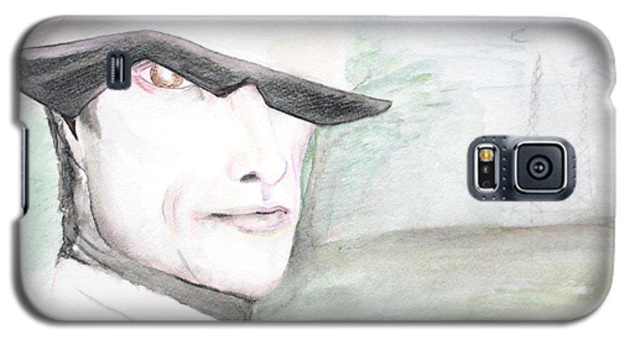 Perry Farrell Jane's Addiction Darkestartist Darkest Artist Galaxy S5 Case featuring the painting A Perry Farrell Plan by Darkest Artist