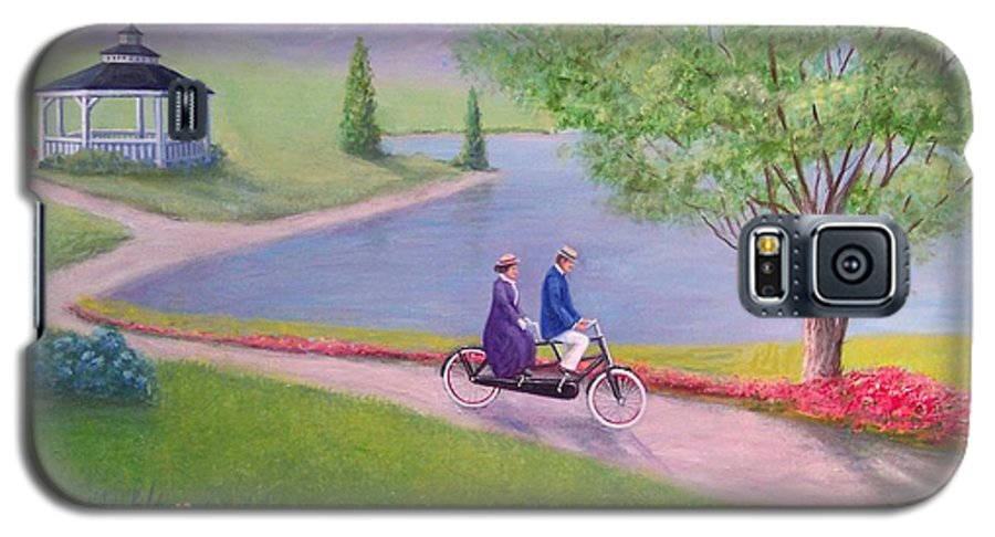 Landscape Galaxy S5 Case featuring the painting A Ride In The Park by William H RaVell III