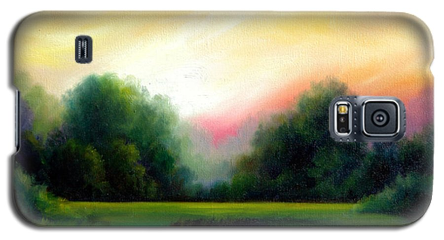 Clouds Galaxy S5 Case featuring the painting A Spring Evening by James Christopher Hill