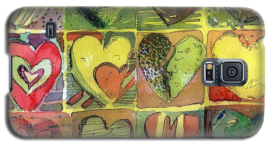 Valentine Galaxy S5 Case featuring the painting A Sunny Valentine by Mindy Newman