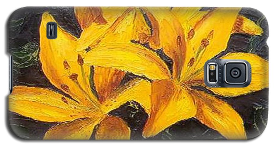 Galaxy S5 Case featuring the painting A Touch Of Gold by Tami Booher