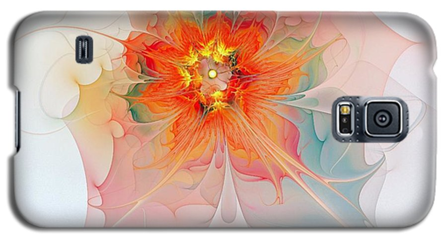 Digital Art Galaxy S5 Case featuring the digital art A Touch Of Spring by Amanda Moore