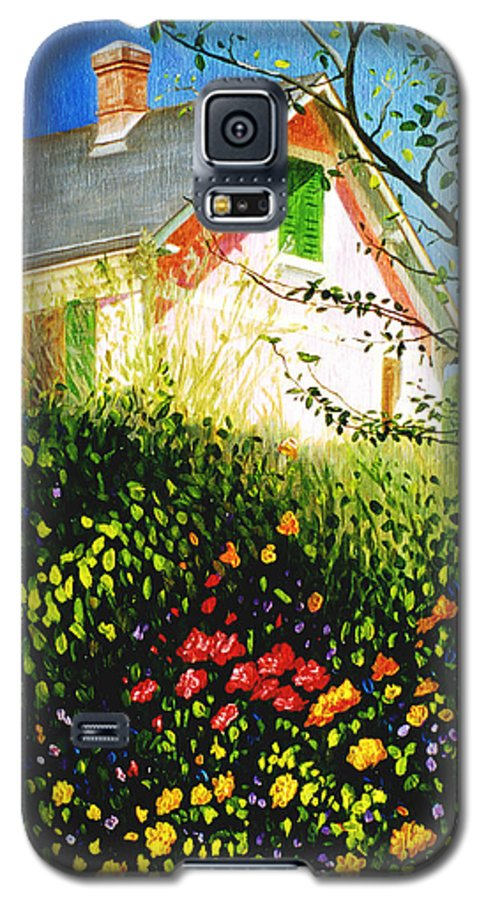 Monets House Galaxy S5 Case featuring the painting A View Of Monets House In Giverny France by Gary Hernandez