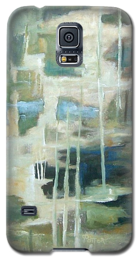 Abstract Galaxy S5 Case featuring the painting A Walk In The Woods by Virginia Potter