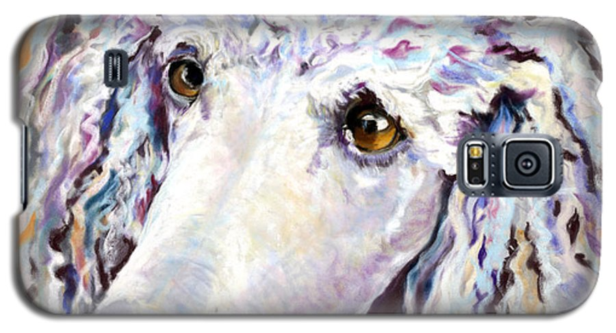 Standard Poodle Galaxy S5 Case featuring the pastel Above The Standard  by Pat Saunders-White