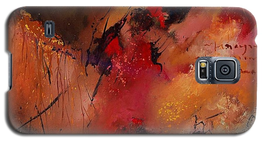 Abstract Galaxy S5 Case featuring the painting Abstract 0408 by Pol Ledent
