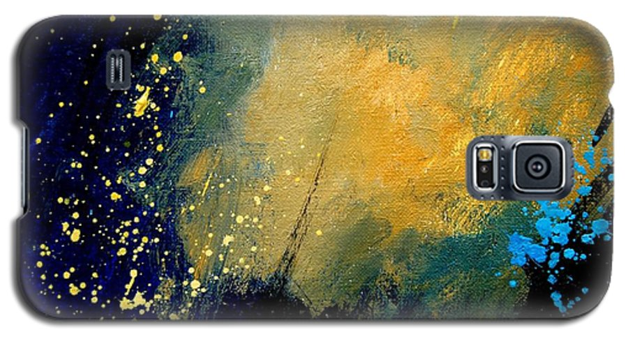 Abstract Galaxy S5 Case featuring the painting Abstract 061 by Pol Ledent