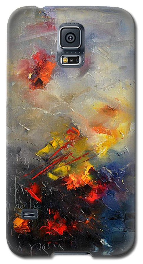 Abstract Galaxy S5 Case featuring the painting Abstract 0805 by Pol Ledent