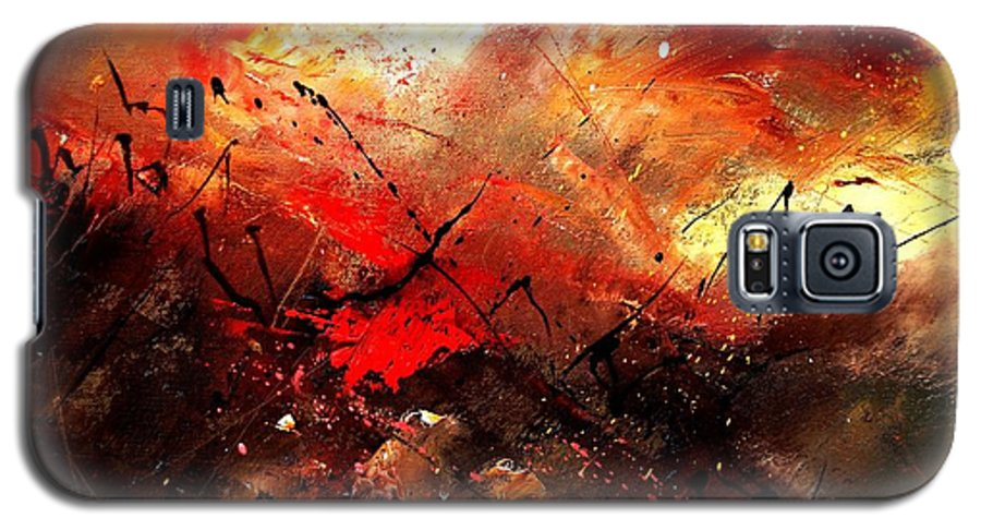 Abstract Galaxy S5 Case featuring the painting Abstract 100202 by Pol Ledent