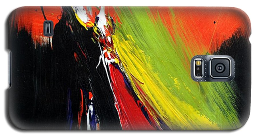 Abstract Galaxy S5 Case featuring the painting Abstract 2002 by Mario Zampedroni