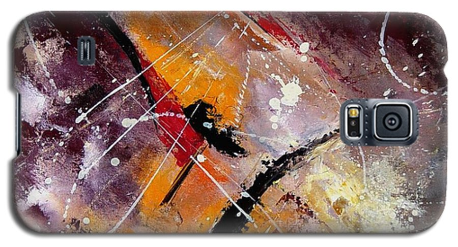 Abstract Galaxy S5 Case featuring the painting Abstract 45 by Pol Ledent