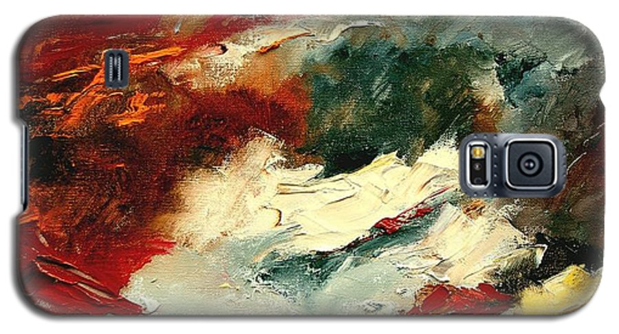 Abstract Galaxy S5 Case featuring the painting Abstract 9 by Pol Ledent