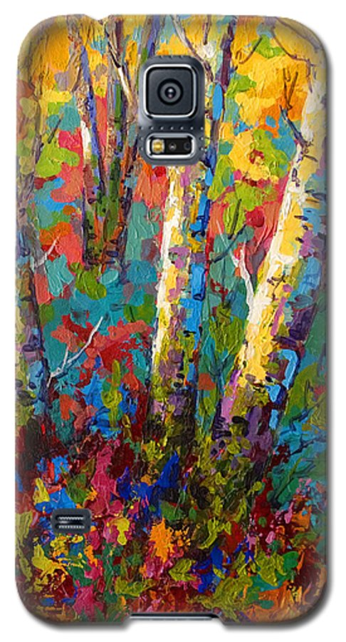 Trees Galaxy S5 Case featuring the painting Abstract Autumn II by Marion Rose