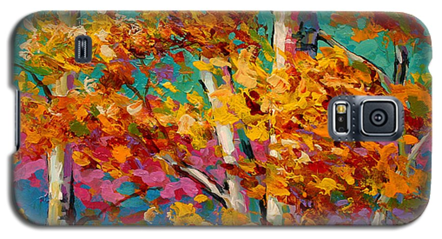 Trees Galaxy S5 Case featuring the painting Abstract Autumn IIi by Marion Rose