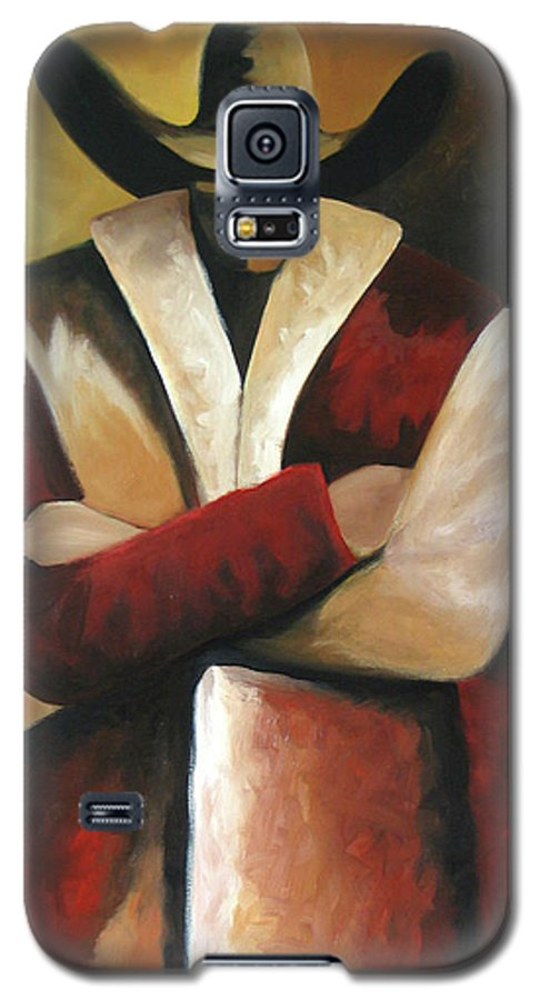 Galaxy S5 Case featuring the painting Abstract Cowboy by Lance Headlee