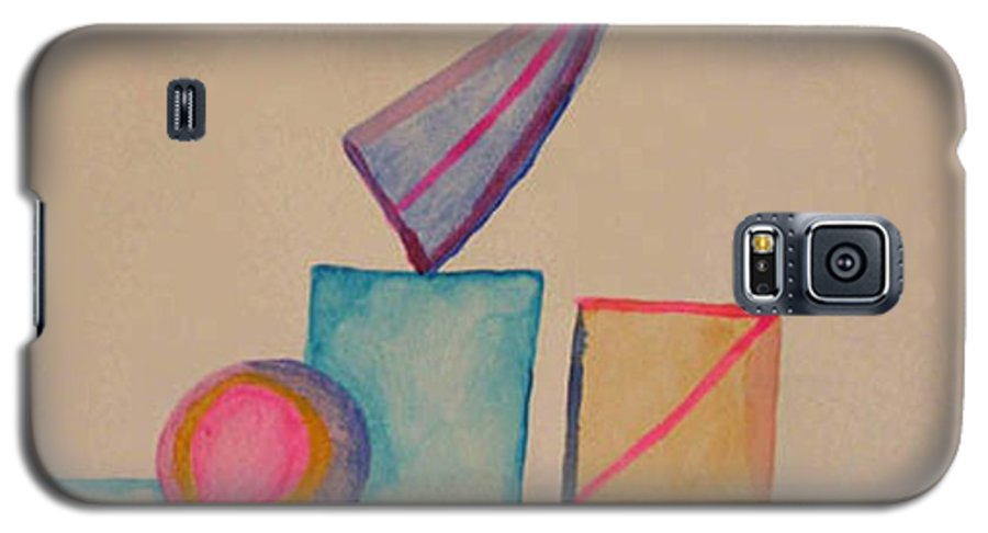 Abstract Galaxy S5 Case featuring the painting Abstract Geometry by Natalee Parochka