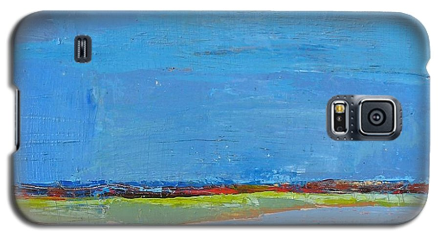 Galaxy S5 Case featuring the painting Abstract Landscape1 by Habib Ayat