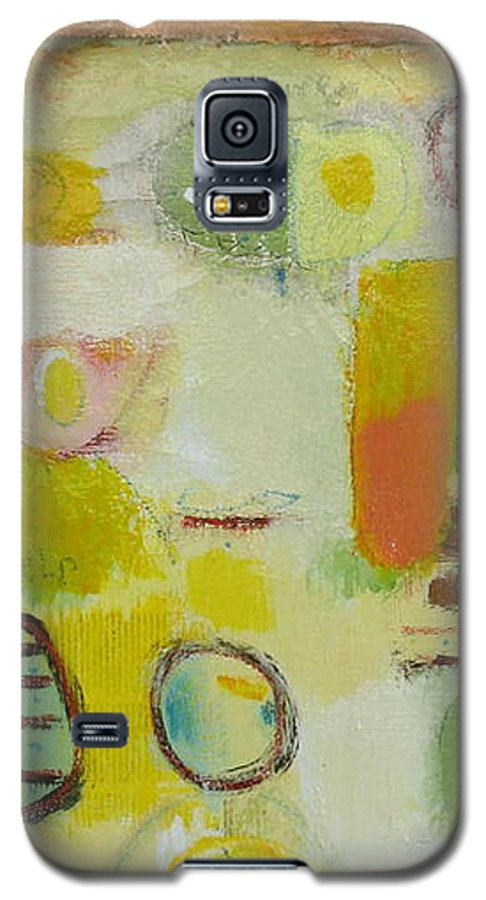 Galaxy S5 Case featuring the painting Abstract Life 2 by Habib Ayat
