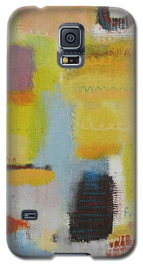 Abstract Galaxy S5 Case featuring the painting Abstract Life 3 by Habib Ayat
