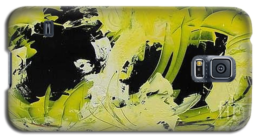 Abstract Galaxy S5 Case featuring the painting Abstract Nature by Mario Zampedroni