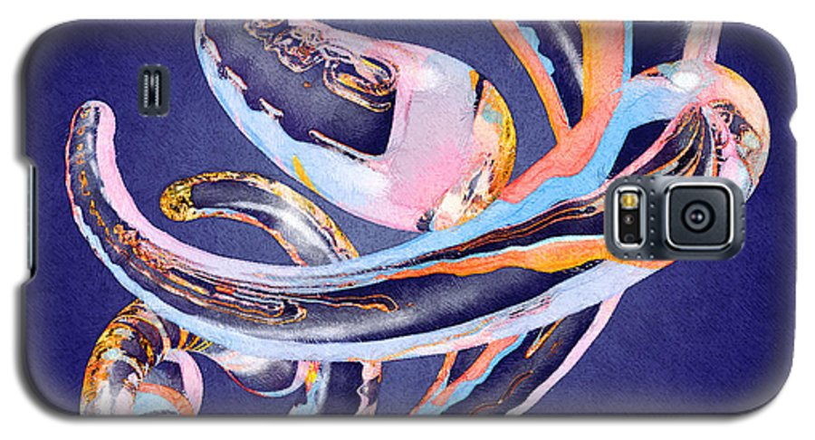 Abstract Galaxy S5 Case featuring the painting Abstract Number 11 by Peter J Sucy
