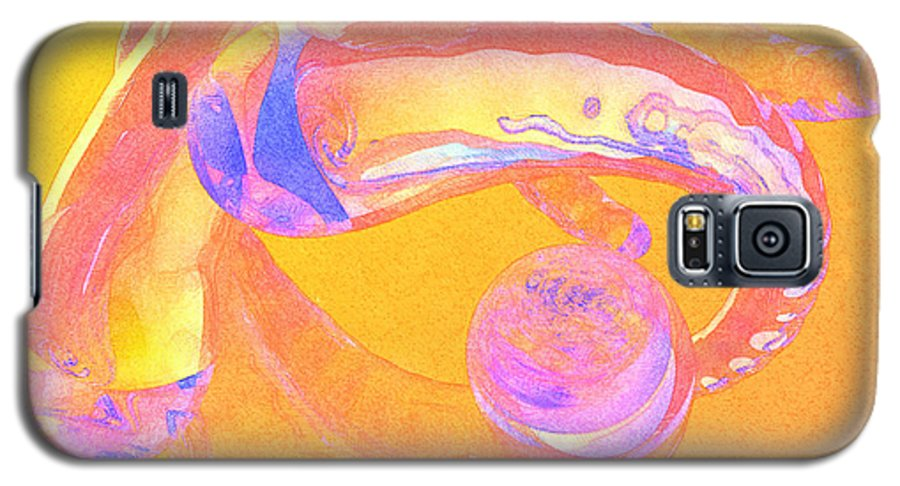 Glass Galaxy S5 Case featuring the painting Abstract Number 2 by Peter J Sucy