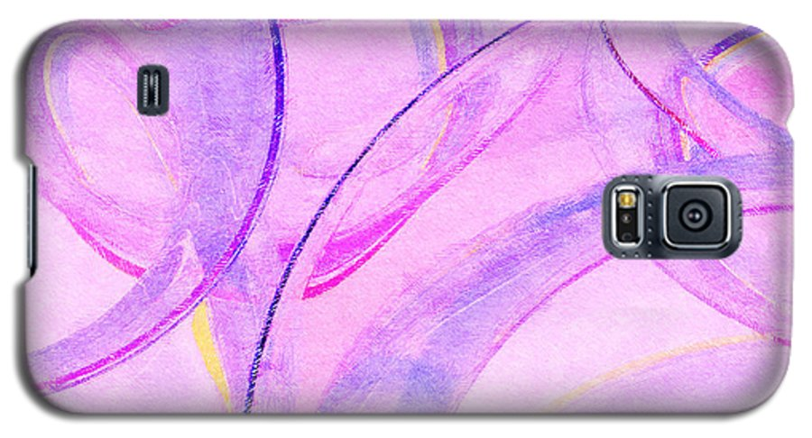 Glass Galaxy S5 Case featuring the painting Abstract Number 20 by Peter J Sucy