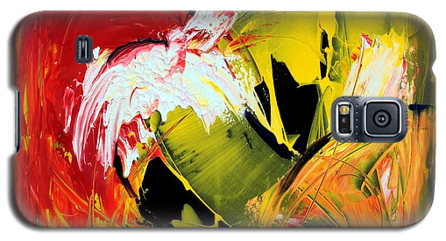 Abstarct Galaxy S5 Case featuring the painting Abstract Painting by Mario Zampedroni