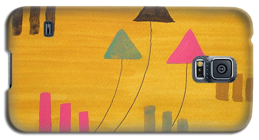 Abstract Galaxy S5 Case featuring the painting Abstract by Roger Cummiskey