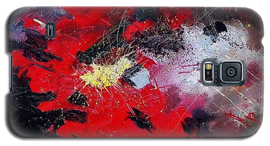 Abstract Galaxy S5 Case featuring the painting Abstract070406 by Pol Ledent