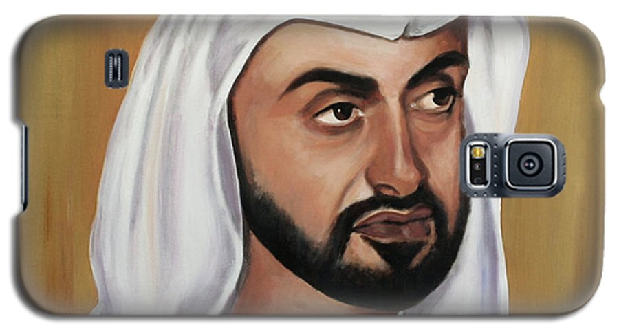 Abu Dhabi Galaxy S5 Case featuring the painting Abu Dhabi Crown Prince by Fiona Jack