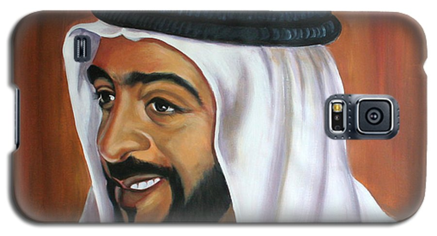 Portrait Galaxy S5 Case featuring the painting Abu Dhabi by Fiona Jack