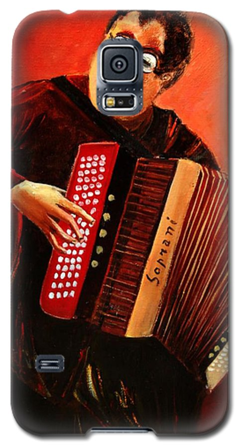 Music Galaxy S5 Case featuring the print Accordeon by Pol Ledent
