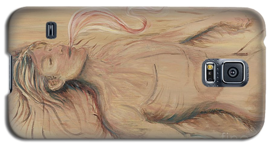 Adam Galaxy S5 Case featuring the painting Adam And The Breath Of God by Nadine Rippelmeyer