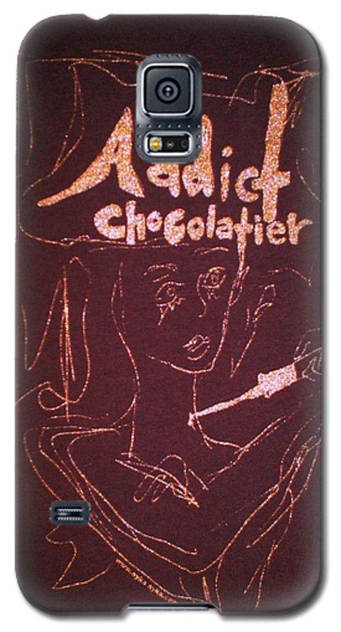 Dark Chocolate Galaxy S5 Case featuring the drawing Addict Chocolatier by Ayka Yasis