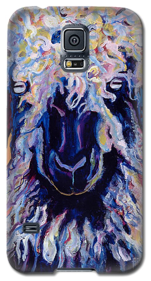 Goat Print Galaxy S5 Case featuring the painting Adelita  by Pat Saunders-White