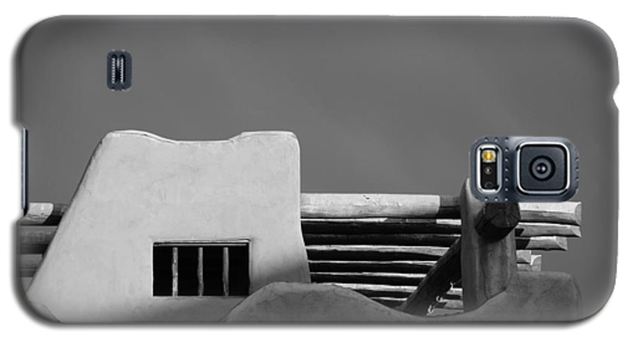Architecture Galaxy S5 Case featuring the photograph Adobe Turrett by Rob Hans