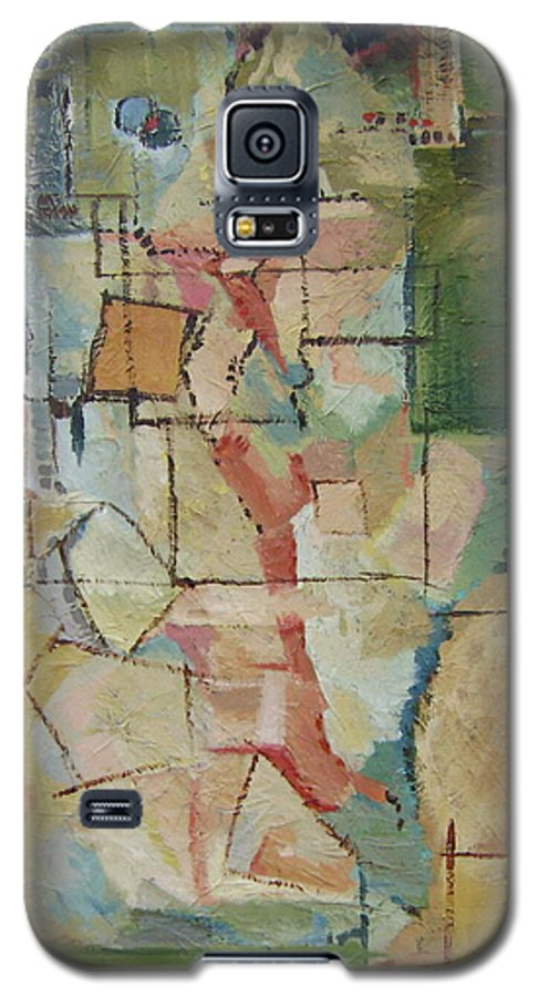 Abstract Art Galaxy S5 Case featuring the painting Aerial by Ginger Concepcion