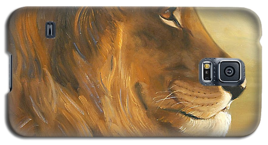 Painting Galaxy S5 Case featuring the painting African King by Greg Neal