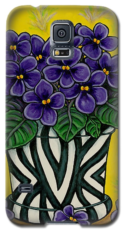 Violets Galaxy S5 Case featuring the painting African Queen by Lisa Lorenz