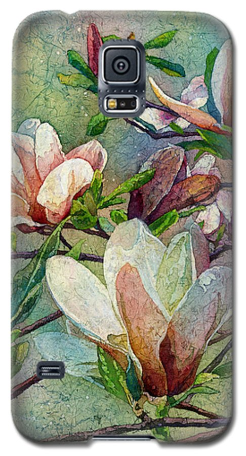 Magnolia Galaxy S5 Case featuring the painting After A Fresh Rain by Hailey E Herrera
