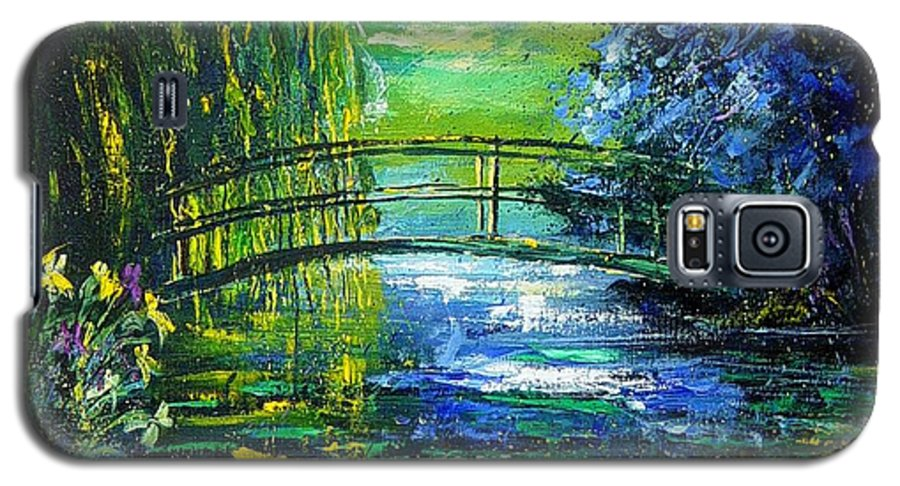 Pond Galaxy S5 Case featuring the painting After Monet by Pol Ledent